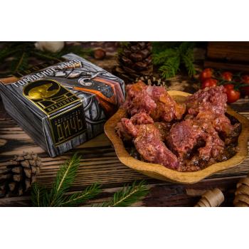 Томленое мясо Бобра Деликатес дичь в подарочной упаковке, 325 гр