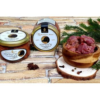 Томленое мясо Кабана с можжевеловыми ягодами и розмарином, 220 г