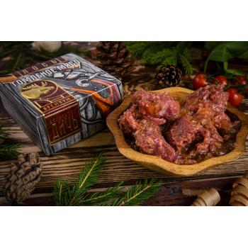 Томленое мясо Лося Деликатес дичь в подарочной упаковке, 325 гр