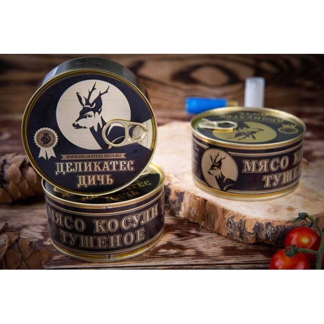 Тушеное мясо Косули Деликатес дичь, 325 гр