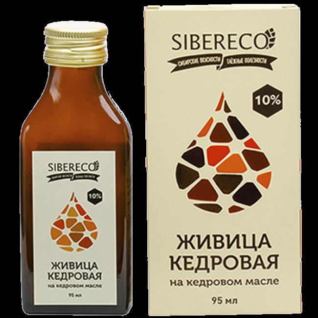 Живица Siberico кедровая 10% на кедровом масле 95мл