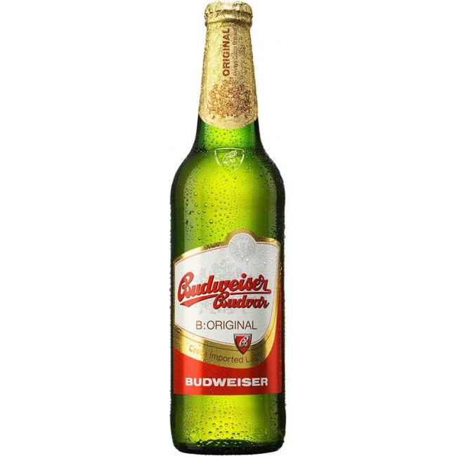 Пиво Budweiser Budvar Svetly Lezak Светлое фильтрованное алк.  5%, 0.5 л