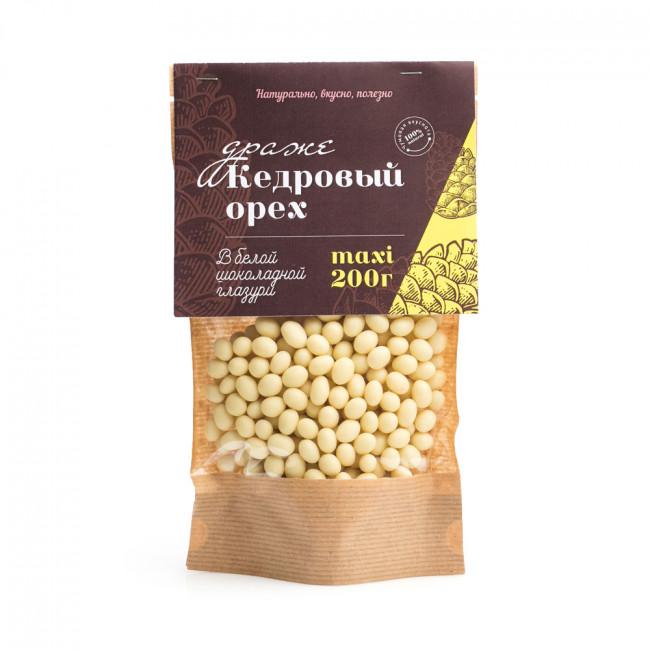 Кедровый орех в белой глазури Солнечная Сибирь, 200 гр