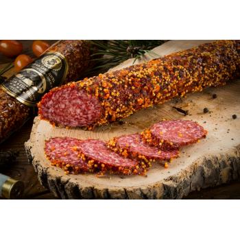 Колбаса Деликатес дичь из мяса Кабана с горчицей, 100 гр