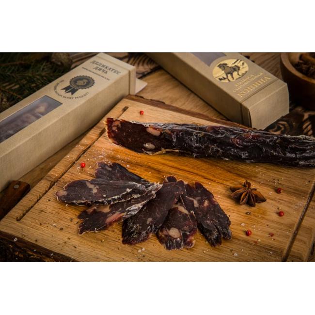 Колбаса из мяса Конины Деликатес дичь в подарочной упаковке, 320 гр