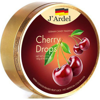 Леденцы со вкусом вишни JARDEL, 180г.