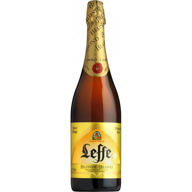 Пиво Leffe Blonde Светлое фильтрованное алк. 6,6%, 0.75 л