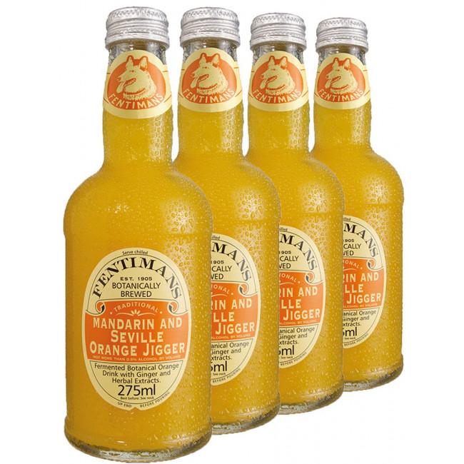 Безалкогольный напиток Fentimans Mandarin and Seville Orange Jigger Мандарин и апельсин, 0.275 л.