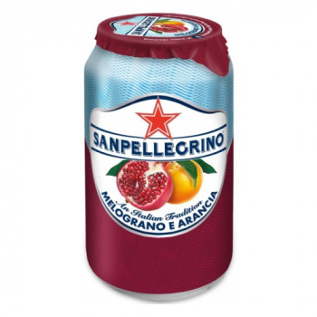 Напиток SanPellegrino Апельсин- Гранат газированный, 0.33 л ж/б