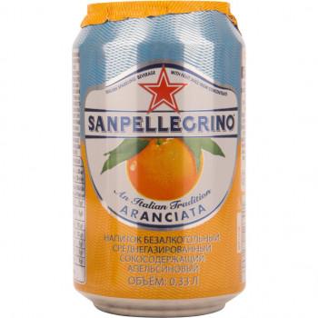 Напиток SanPellegrino Апельсин газированный, 0.33 л ж/б