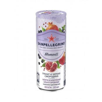 Напиток SanPellegrino Гранат и Черная Смородина газированный, 0.33 л ж/б