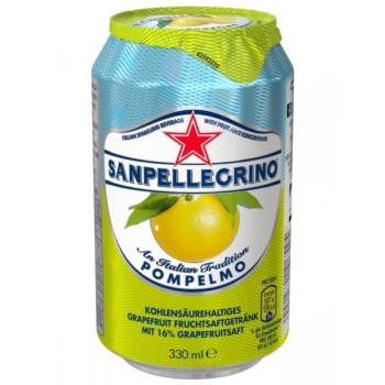 Напиток SanPellegrino Грейпфрут газированный, 0.33 л ж/б