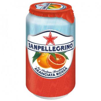 Напиток SanPellegrino Красный Апельсин газированный, 0.33 л ж/б