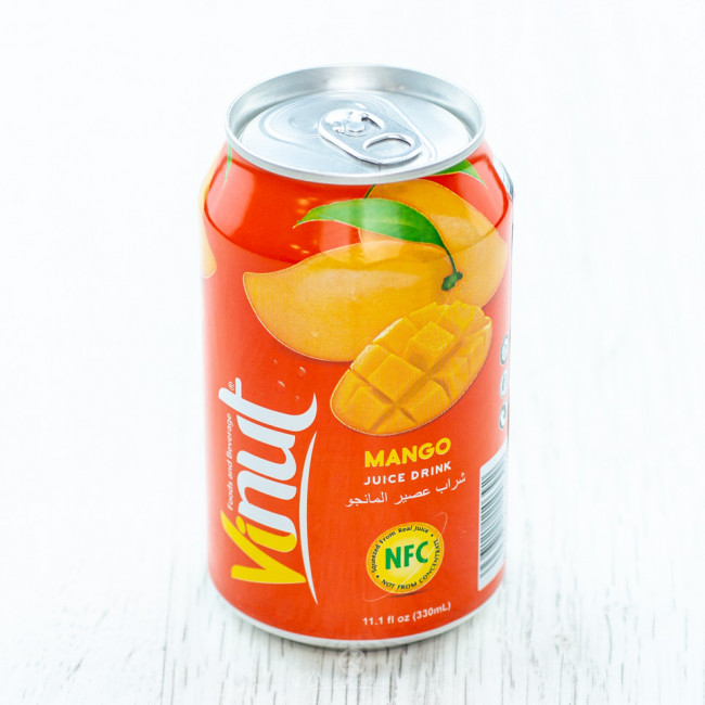 Напиток VINUT Манго, 0.33 л ж/б