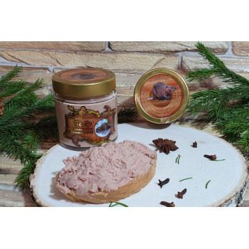 Паштет Деликатес дичь из мяса Бобра с вялеными томатами, 190 гр