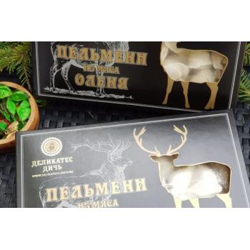 Пельмени из мяса Оленя с зеленью и специями Деликатес дичь, 800 гр