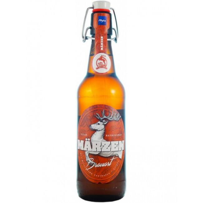 Пиво Der Hirschbrau Marzen Светлое фильтрованное алк. 5,6%, 0.5 л
