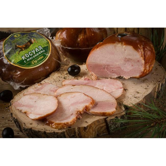 Рулет Деликатес дичь из мяса Косули с маслинами, 315 гр