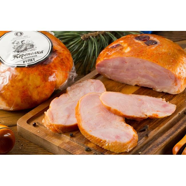 Рулет Деликатес дичь из мяса Перепела с клюквой, 315 гр