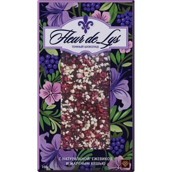 Шоколад Fleur Libertad темный с натуральной ежевикой и жареным кешью, 80 гр