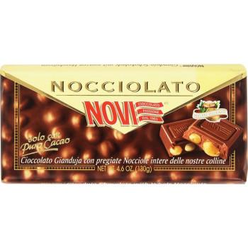 Шоколад Novi молочный с жандужа и цельными лесными орехами, 130 гр