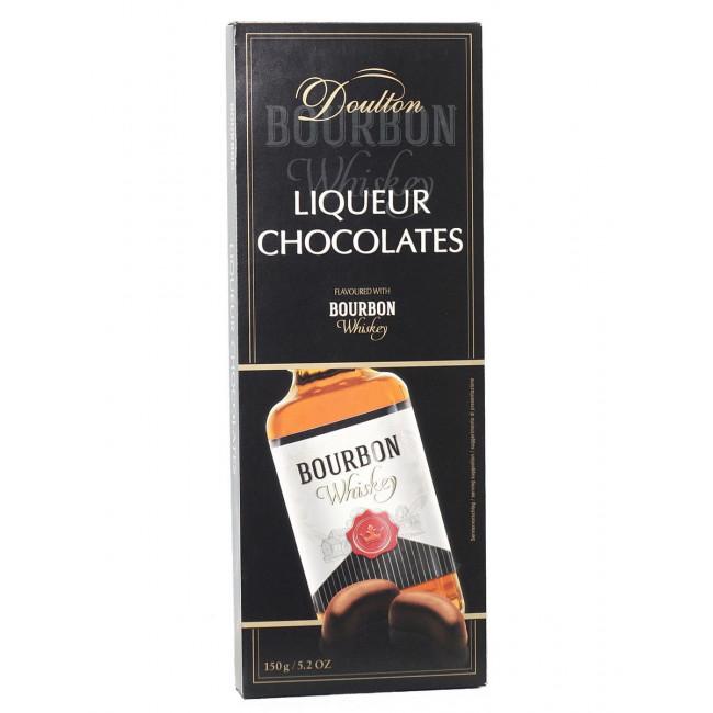 Шоколадные конфеты Doulton с виски Bourbon, 150 гр