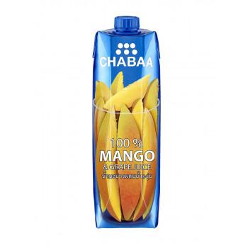 Сок CHABAA манго и виноград,  1л