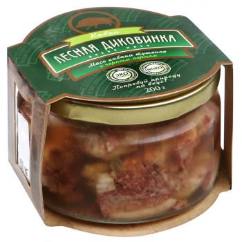 """Тушеное мясо кабана с черным перцем """"Лесная диковинка"""" 200г."""