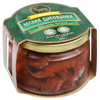 """Тушеное мясо оленя с можжевеловыми ягодами """"Лесная диковинка"""" 200г."""