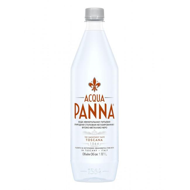 Природная питьевая вода Aqua Panna, 1 л ПЭТ