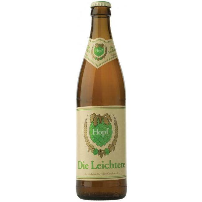 Пиво Weissbierbrauerei Hopf Leichtere Светлое Лёгкое алк. 3,3%, 0,5 л