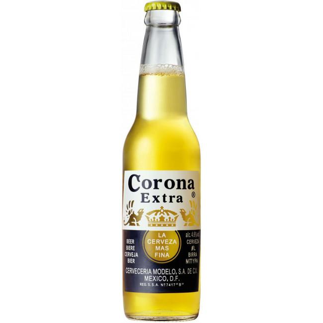 Пиво Corona Extra Светлое фильтрованное алк. 4,5%, 0.33 л