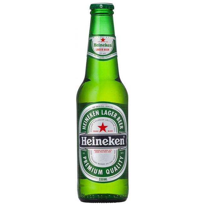 Пиво Heineken Lager Средне-светлое фильтрованное алк. 5%, 0.33 л