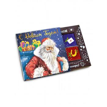 Молочный шоколад Chokocat КЭТ 12 Дед Мороз с подарками, 60 гр