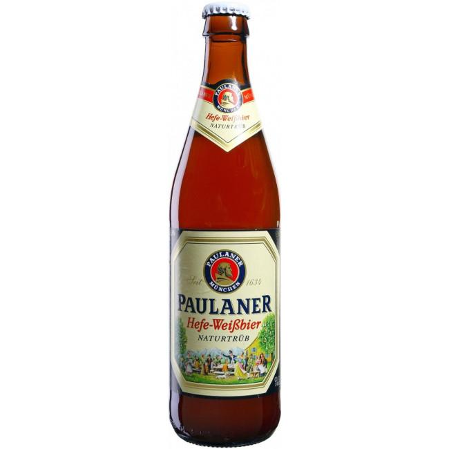 Пиво Paulaner Hefe-Weissbier Naturtrub Светлое нефильтрованное алк. 5,5%, 0.5 л
