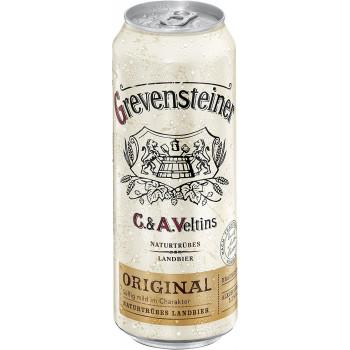 Пиво Grevensteiner  Original Янтарное нефильтрованное алк. 5,2%, 0.5 л