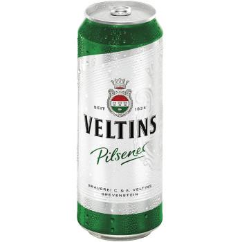 Пиво Veltins Pilsener Светлое фильтрованное алк. 4,8%, 0.5л банка