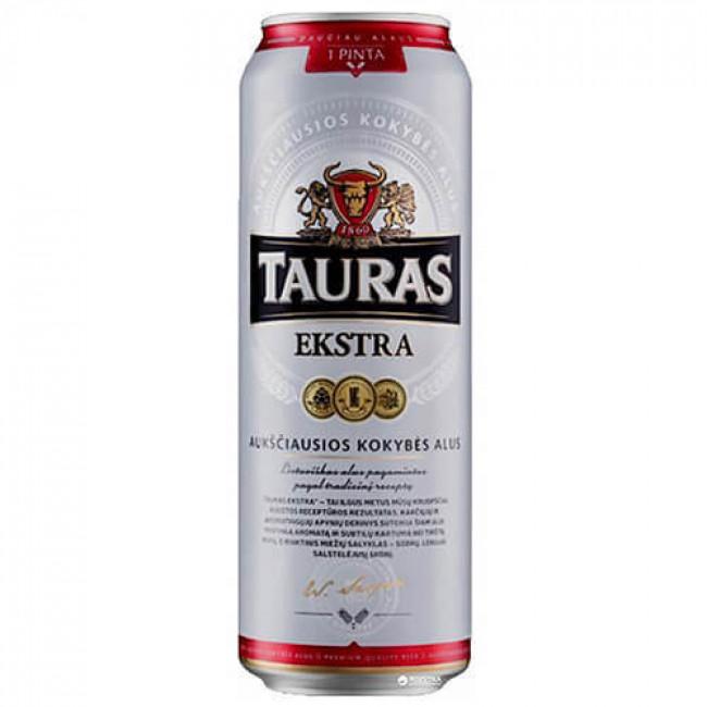 Пиво Tauras Ekstra светлое алк. 5,2% , 0,568 л