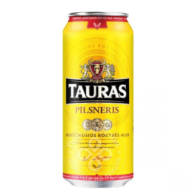 Пиво Tauras Pilsneris светлое алк. 4,6%,  0.568 л