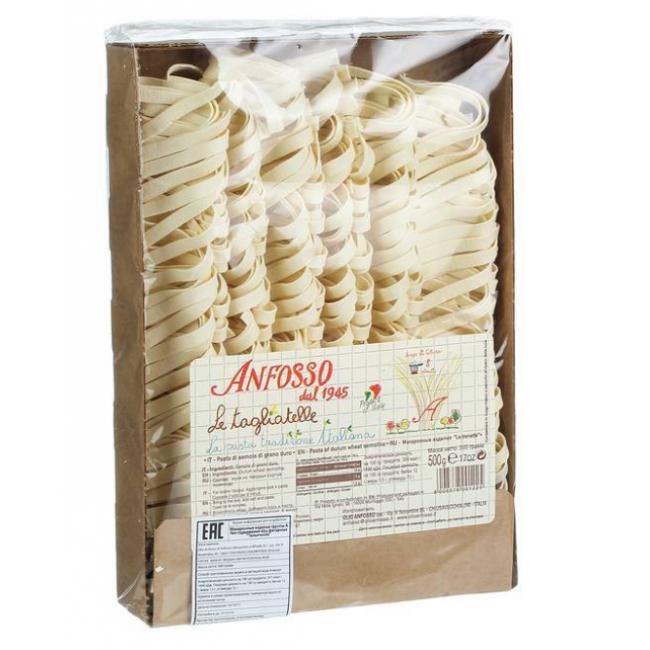 Макаронные изделия без яиц Тальятелле Anfosso 500 г