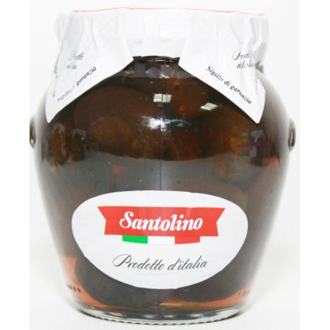 Маслины  Гигант с косточкой Santolino 314 мл.