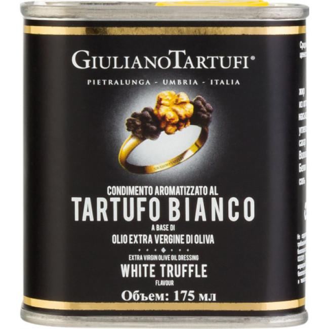 Масло оливковое нераф. ароматизированое белым трюфелем, Giuliano Tartufi, 175 мл