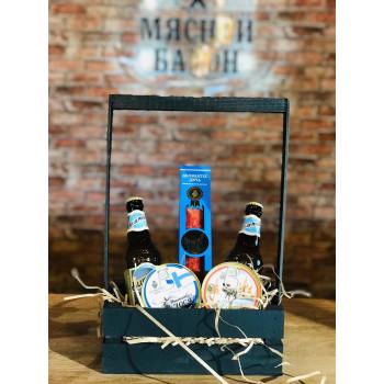 Мужская подарочная корзина Пиво и дичь  М2560