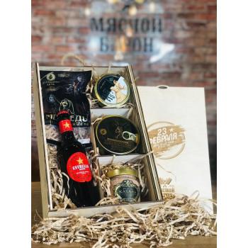 Мужская подарочная коробка  С 23 февраля М2408